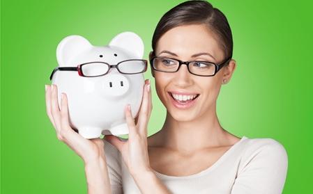 Glasses, save, savings.